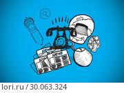Купить «Composite image of communications doodle», фото № 30063324, снято 11 января 2014 г. (c) Wavebreak Media / Фотобанк Лори