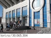 Купить «Одинцово, Волейбольный Центр», эксклюзивное фото № 30065304, снято 19 февраля 2019 г. (c) Дмитрий Неумоин / Фотобанк Лори