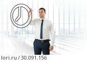Купить «Composite image of business person drawing», фото № 30091156, снято 22 августа 2014 г. (c) Wavebreak Media / Фотобанк Лори