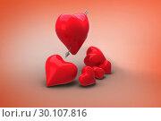 Купить «Composite image of love hearts», фото № 30107816, снято 20 января 2015 г. (c) Wavebreak Media / Фотобанк Лори