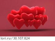 Купить «Composite image of love hearts», фото № 30107824, снято 20 января 2015 г. (c) Wavebreak Media / Фотобанк Лори