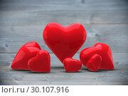 Купить «Composite image of love hearts», фото № 30107916, снято 21 января 2015 г. (c) Wavebreak Media / Фотобанк Лори
