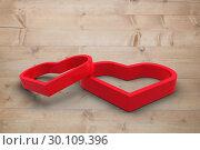 Купить «Composite image of linking hearts», фото № 30109396, снято 21 января 2015 г. (c) Wavebreak Media / Фотобанк Лори
