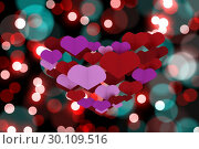 Купить «Composite image of love hearts», фото № 30109516, снято 21 января 2015 г. (c) Wavebreak Media / Фотобанк Лори