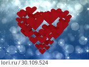 Купить «Composite image of love hearts», фото № 30109524, снято 21 января 2015 г. (c) Wavebreak Media / Фотобанк Лори