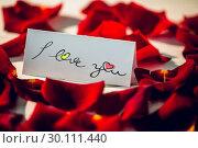 Купить «Composite image of i love you», фото № 30111440, снято 23 января 2015 г. (c) Wavebreak Media / Фотобанк Лори