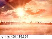 Купить «Sun shining over city», фото № 30116856, снято 11 мая 2016 г. (c) Wavebreak Media / Фотобанк Лори