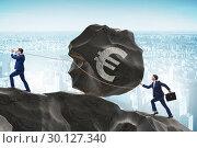 Купить «Trader trading in euro currency», фото № 30127340, снято 21 июля 2019 г. (c) Elnur / Фотобанк Лори