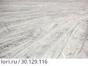 Купить «Ski traces on snowy landscape», фото № 30129116, снято 18 ноября 2016 г. (c) Wavebreak Media / Фотобанк Лори