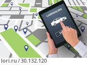 Купить «Concept of car ordering online», фото № 30132120, снято 17 января 2020 г. (c) Elnur / Фотобанк Лори
