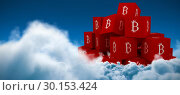 Купить «Composite image of pyramid made of red cube with a b sign on each side», фото № 30153424, снято 21 ноября 2017 г. (c) Wavebreak Media / Фотобанк Лори
