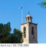 Nicosia, Cyprus. Belfry Cathedral of St. John the Divine (2018 год). Стоковое фото, фотограф Володина Ольга / Фотобанк Лори