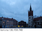Купить «Poland, Bytom - Rynek (market) in the city centre, on the right the Catholic Church of Our Lady», фото № 30159740, снято 28 февраля 2018 г. (c) Caro Photoagency / Фотобанк Лори