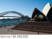 Sydney, Australia, Sydney Opera House and Harbour Bridge (2018 год). Редакционное фото, агентство Caro Photoagency / Фотобанк Лори
