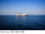 Купить «Ferry, Golden Star Ferries, Rafina, Greece, Europe», фото № 30160144, снято 4 сентября 2018 г. (c) Caro Photoagency / Фотобанк Лори