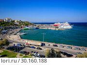 Купить «Ferries in the port of Rafina, Attica, Greece, Europe», фото № 30160188, снято 17 сентября 2018 г. (c) Caro Photoagency / Фотобанк Лори