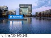 Купить «ThyssenKrupp Headquarters, Essen, Ruhr Area, North Rhine-Westphalia, Germany, Europe», фото № 30160248, снято 9 января 2019 г. (c) Caro Photoagency / Фотобанк Лори