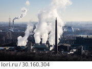 Купить «Prosper coking plant, industrial landscape in the Ruhr area, Bottrop, Germany, Europe», фото № 30160304, снято 20 января 2019 г. (c) Caro Photoagency / Фотобанк Лори