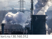 Купить «Prosper coking plant, industrial landscape in the Ruhr area, Bottrop, Germany, Europe», фото № 30160312, снято 20 января 2019 г. (c) Caro Photoagency / Фотобанк Лори