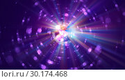 Купить «Colorful galaxy abstractipn with bright rays, 3d render background, computer generated backdrop», иллюстрация № 30174468 (c) Роман Будников / Фотобанк Лори
