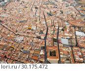 Купить «Aerial view of the spanish city of Reus. Tarragona province. Catalonia. Spain», фото № 30175472, снято 17 января 2019 г. (c) Яков Филимонов / Фотобанк Лори