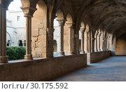 Купить «Cloister of Monastery of Santa Maria de Vallbona», фото № 30175592, снято 27 января 2019 г. (c) Яков Филимонов / Фотобанк Лори