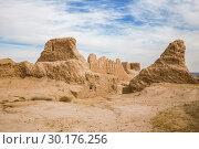 Купить «Ruins of the Ayaz-Kala fortress of ancient Khorezm in Kyzylkum desert, Uzbekistan», фото № 30176256, снято 21 октября 2016 г. (c) Юлия Бабкина / Фотобанк Лори