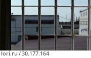 Купить «Prison. Typical landscape of the prison. Russian Penal System.», видеоролик № 30177164, снято 23 февраля 2019 г. (c) Mikhail Erguine / Фотобанк Лори
