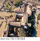 Купить «Aerial view of Monastery in Catalonia», фото № 30178564, снято 14 февраля 2019 г. (c) Яков Филимонов / Фотобанк Лори