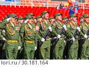 Купить «Russia Samara May 2018: Soldiers with automatic weapons.», фото № 30181164, снято 5 мая 2018 г. (c) Акиньшин Владимир / Фотобанк Лори