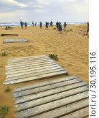 Waste on Golden Beach. North Cyprus, Karpass Peninsula. Стоковое фото, фотограф Andre Maslennikov / age Fotostock / Фотобанк Лори