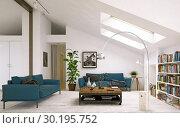 modern living room interior design. Стоковое фото, фотограф Виктор Застольский / Фотобанк Лори