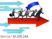 Купить «Leadership concept with various business people», фото № 30205244, снято 6 июля 2020 г. (c) Elnur / Фотобанк Лори