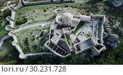 Купить «Top view of the castle Castillo de Loarre. Huesca Province. Aragon. Spain», видеоролик № 30231728, снято 23 декабря 2018 г. (c) Яков Филимонов / Фотобанк Лори