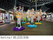 """Купить «Фестиваль """"Московская Масленица"""", площадка на площади Революции», эксклюзивное фото № 30233936, снято 2 марта 2019 г. (c) Dmitry29 / Фотобанк Лори"""