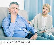 Купить «Mature couple find out relationship», фото № 30234604, снято 26 марта 2019 г. (c) Яков Филимонов / Фотобанк Лори