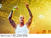 Купить «Выступление The Prodigy на фестивале Tuborg Greenfest», эксклюзивное фото № 30234956, снято 29 июня 2014 г. (c) Ольга Визави / Фотобанк Лори
