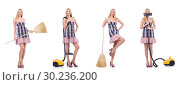 Купить «Beautiful woman in housecleaning concept», фото № 30236200, снято 24 января 2020 г. (c) Elnur / Фотобанк Лори