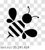 Купить «Honey bee icon», иллюстрация № 30241424 (c) Сергей Лаврентьев / Фотобанк Лори