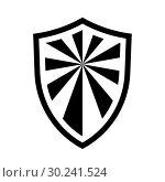 Купить «Shield Icon isolated on white background», иллюстрация № 30241524 (c) Сергей Лаврентьев / Фотобанк Лори