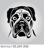 Купить «Portrait of a bullmastiff», иллюстрация № 30241936 (c) Сергей Лаврентьев / Фотобанк Лори