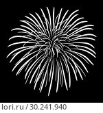 Купить «Fireworks on a black sky background», иллюстрация № 30241940 (c) Сергей Лаврентьев / Фотобанк Лори