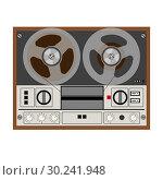 Vintage Analog Stereo Reel Tape Recorder. Стоковая иллюстрация, иллюстратор Сергей Лаврентьев / Фотобанк Лори