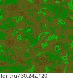 Купить «Seamless camouflage of pixel pattern», иллюстрация № 30242120 (c) Сергей Лаврентьев / Фотобанк Лори