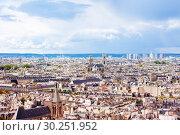 Купить «Paris and suburbs cityscape from above, France», фото № 30251952, снято 16 сентября 2017 г. (c) Сергей Новиков / Фотобанк Лори