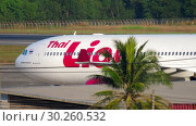 Купить «Airplane taxiing after landing», видеоролик № 30260532, снято 29 декабря 2018 г. (c) Игорь Жоров / Фотобанк Лори