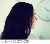 Купить «Young female with brown hair», фото № 30275620, снято 30 мая 2017 г. (c) Яков Филимонов / Фотобанк Лори