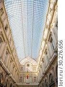 Купить «Интерьер Королевской галереи Святого Юбера в центре Брюсселя, Бельгия», фото № 30276656, снято 4 июля 2018 г. (c) V.Ivantsov / Фотобанк Лори