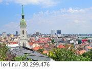 Купить «Top-view of Bratislava», фото № 30299476, снято 12 июля 2018 г. (c) Татьяна Савватеева / Фотобанк Лори