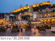 Купить «Night life in Tbilisi», фото № 30299608, снято 22 сентября 2018 г. (c) Юлия Бабкина / Фотобанк Лори